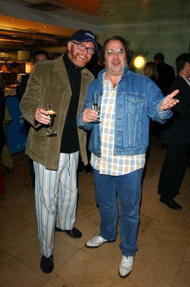 Chris Evans with his longtime pal Danny Baker, who seemingly distanced himself from the show's script...
