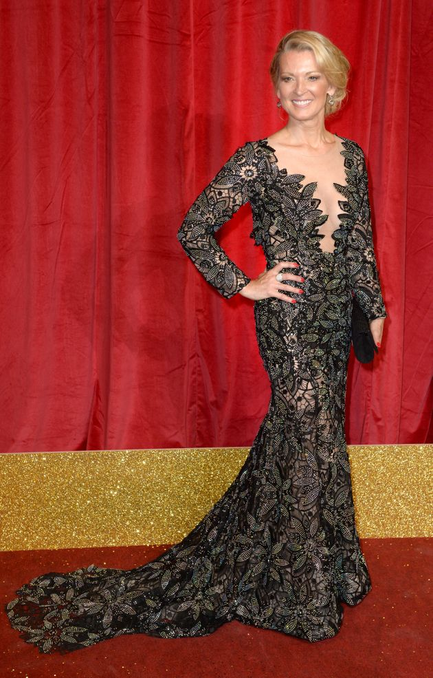 Gillian was glowing for the Soap Awards, but is said to be horrified by what happened to her fiance that