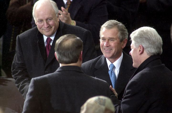 George W. Bush at his inauguration in 2001.