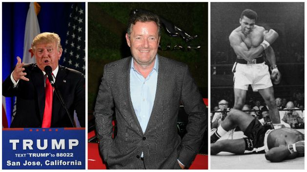 (Left to right) Donald Trump, Piers Morgan and Muhammad