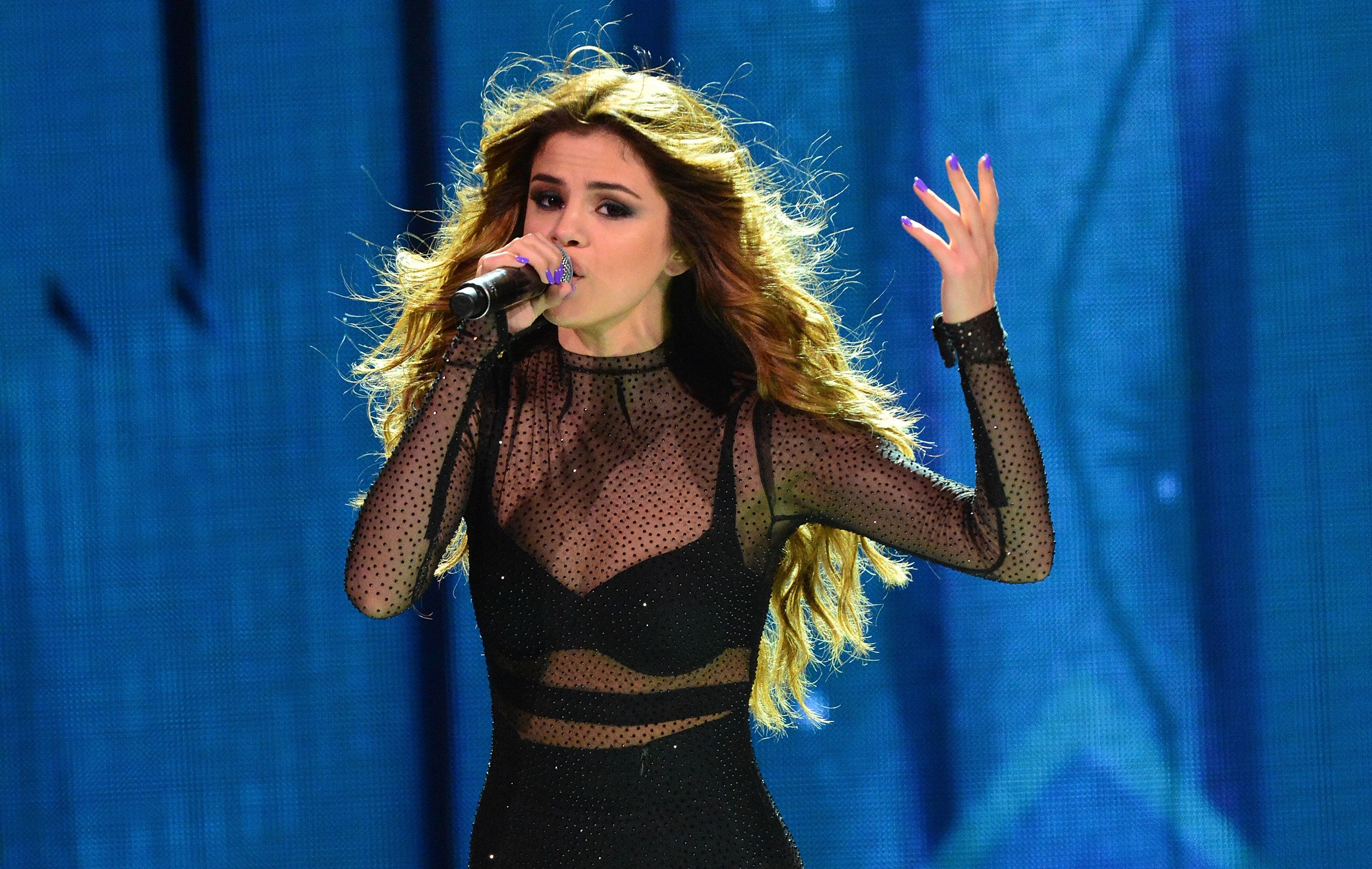 Singer Selena Gomez performs at The Prudential Center in Newark, New Jersey, on June 2, 2016.