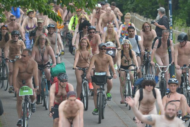 EDL And Naked Bike Ride In Bristol Cause Surreal