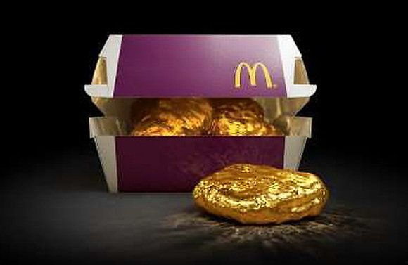 McDonald's Japan is hoping to spark a gold rush over their Chicken McNuggets by offering an 18-karat...