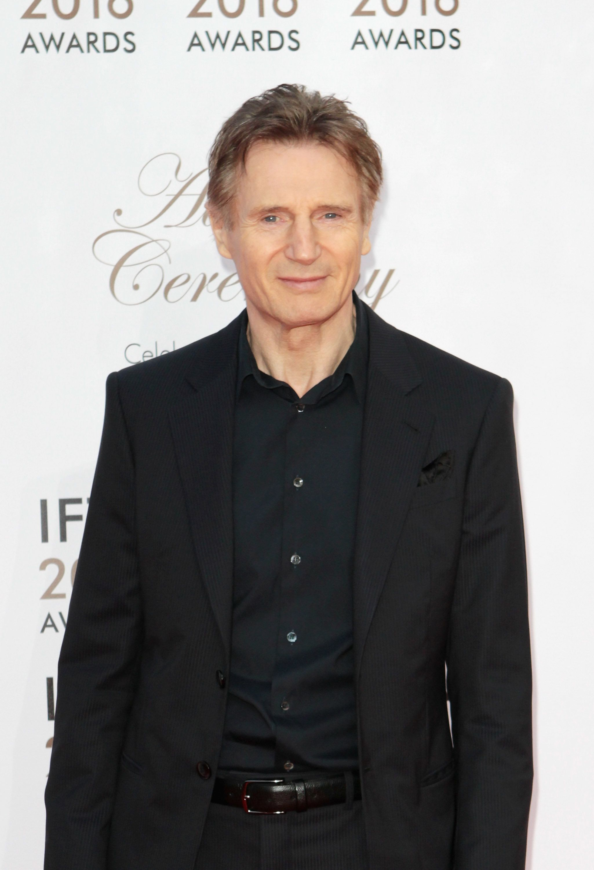 DUBLIN, IRELAND - APRIL 09: Liam Neeson attends the 2016 IFTA Film & Drama Awards at Mansion House on April 9, 2016 in Dublin, Ireland.  (Photo by Phillip Massey/Getty Images)