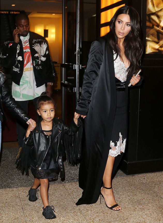 Kim Kardashian And North West Rock Matching Dresses To Celebrate Kanye's