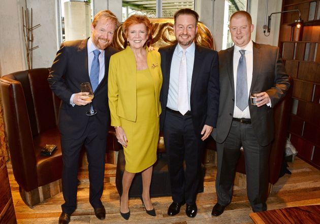 Cilla with her sons (left to right) Ben, Robert and Jack