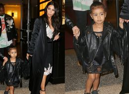 Kim Kardashian And North West Rock Matching Dresses