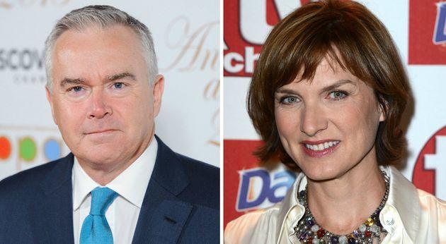 The BBC revealed Huw Edwards and Fiona Bruce were among those