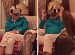 Adorable Grandma Totally Freaks Out While Trying VR For The First Time