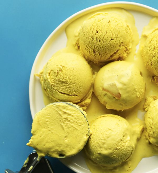 "<strong>Get the <a href=""http://minimalistbaker.com/golden-milk-ice-cream/"" target=""_blank"">Golden Milk Ice Cream recipe</a>&"