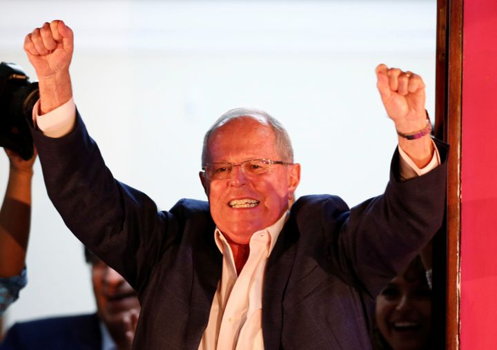 Peruvian presidential candidate Pedro Pablo Kuczynski held50.5 percent of the vote in the presidential election as of M