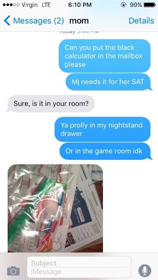 Furious Mum Finds 'Drugs' In Daughter's Room 575585cc160000ab02f95700