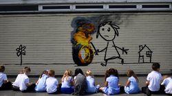 Banksy Surprises School Children With Playground