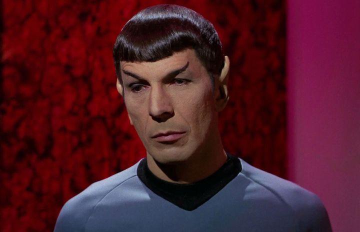 "Leonard Nimoy playsSpock in an episode of ""Star Trek: The Original Series."""