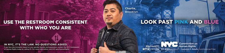Brooklyn resident and health care professional Charles Solidum appears in the campaign.