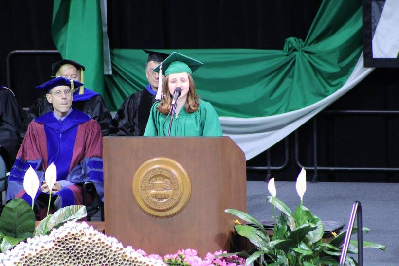 Speaking at the College of Arts and Letters Commencement- May 8th, 2016