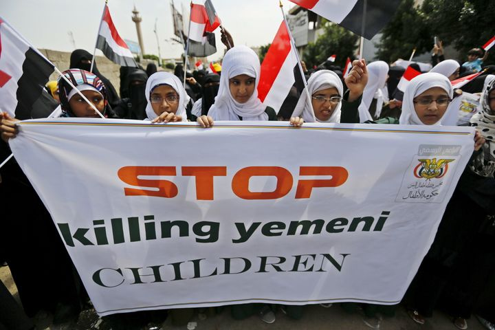 The United Nations announced Monday that it had removed the Saudi-led Yemen coalition from its child rights blacklist.