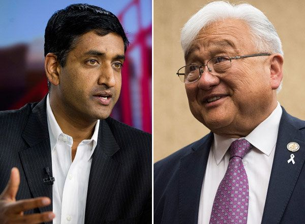 Attorney Ro Khanna (left) defeated Rep. Mike Honda (D-Calif.) on Tuesday.