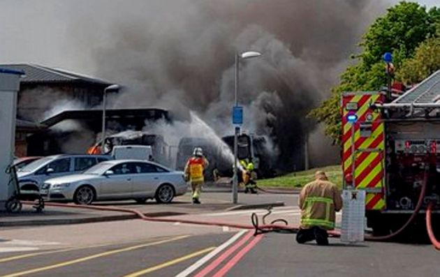 East Surrey Hospital Fire Sees Medics Praised For Helping Patient Escape Ambulance