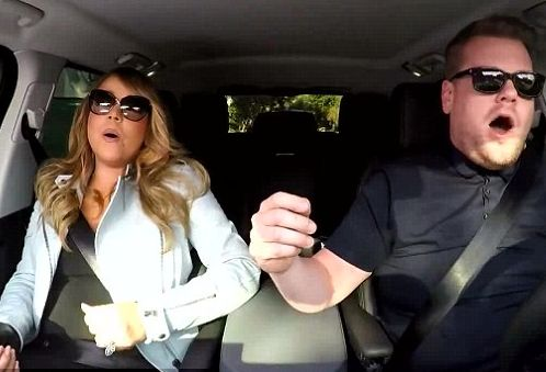 Mariah Carey proved a slippery co-star when it came time to join in 'Carpool