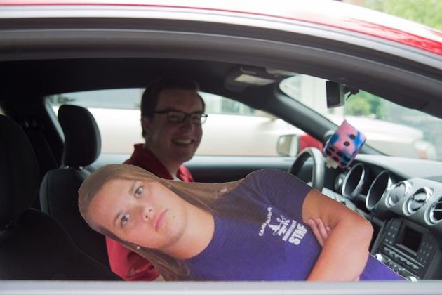 Man Throws Birthday Bash For Long Distance Girlfriend Using The Sassiest Cardboard