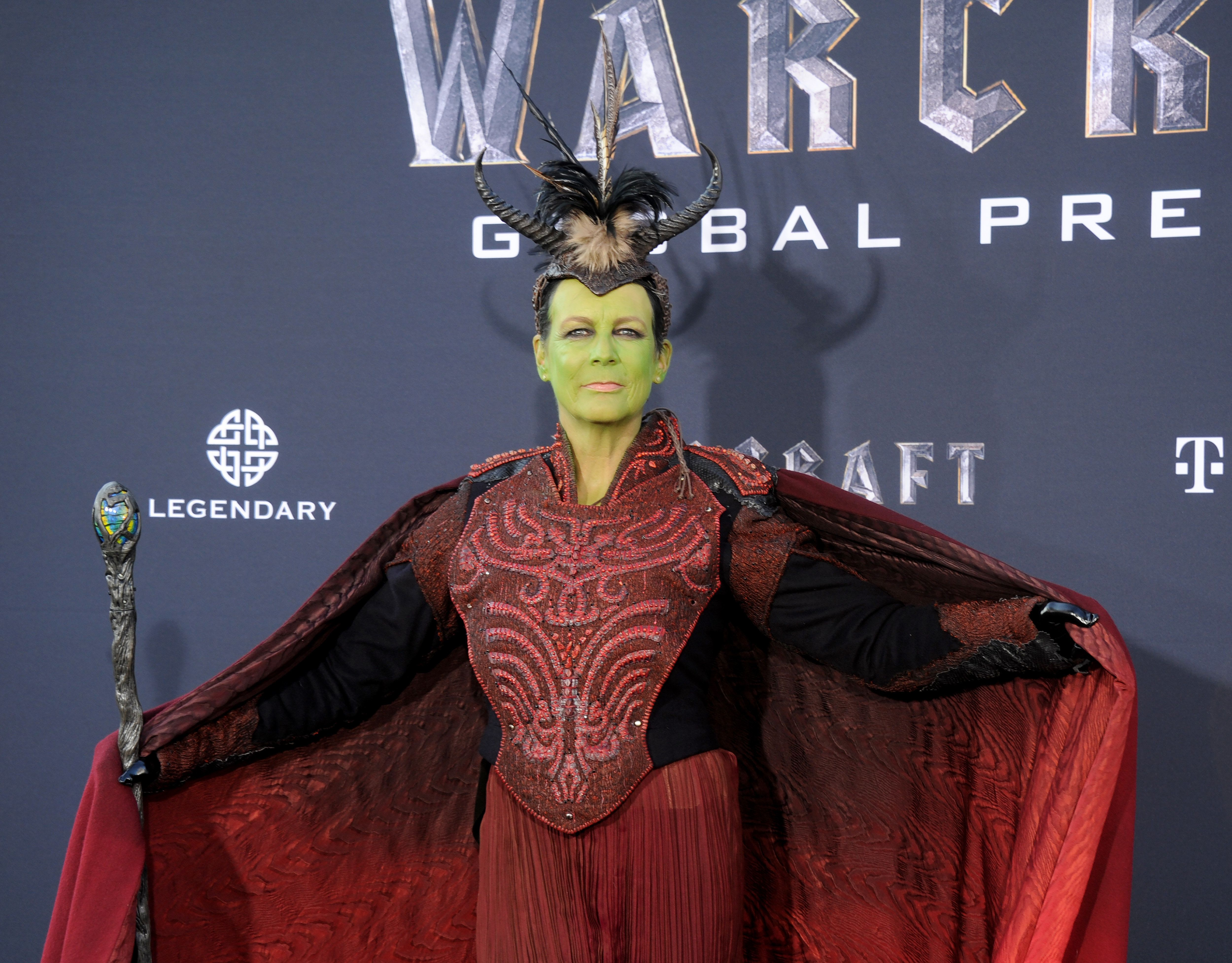 HOLLYWOOD, CA - JUNE 06:  Actress Jamie Lee Curtis arrives at the premiere of Universal Pictures' 'Warcraft' at TCL Chinese Theatre IMAX on June 6, 2016 in Hollywood, California.  (Photo by Gregg DeGuire/WireImage)