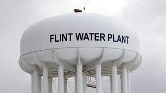 FLINT, MI - JANUARY 13:   The Flint Water Plant tower is shown January 13, 2016 in Flint, Michigan. On Tuesday, Michigan Gov. Rick Snyder activated the National Guard to help the American Red Cross distribute water to Flint residents to help them deal with the lead contamination that is in the City of Flint's water supply.  (Photo by Bill Pugliano/Getty Images)
