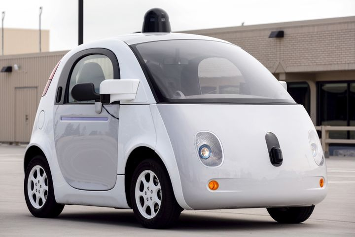 A prototype of Google's own self-driving vehicle.