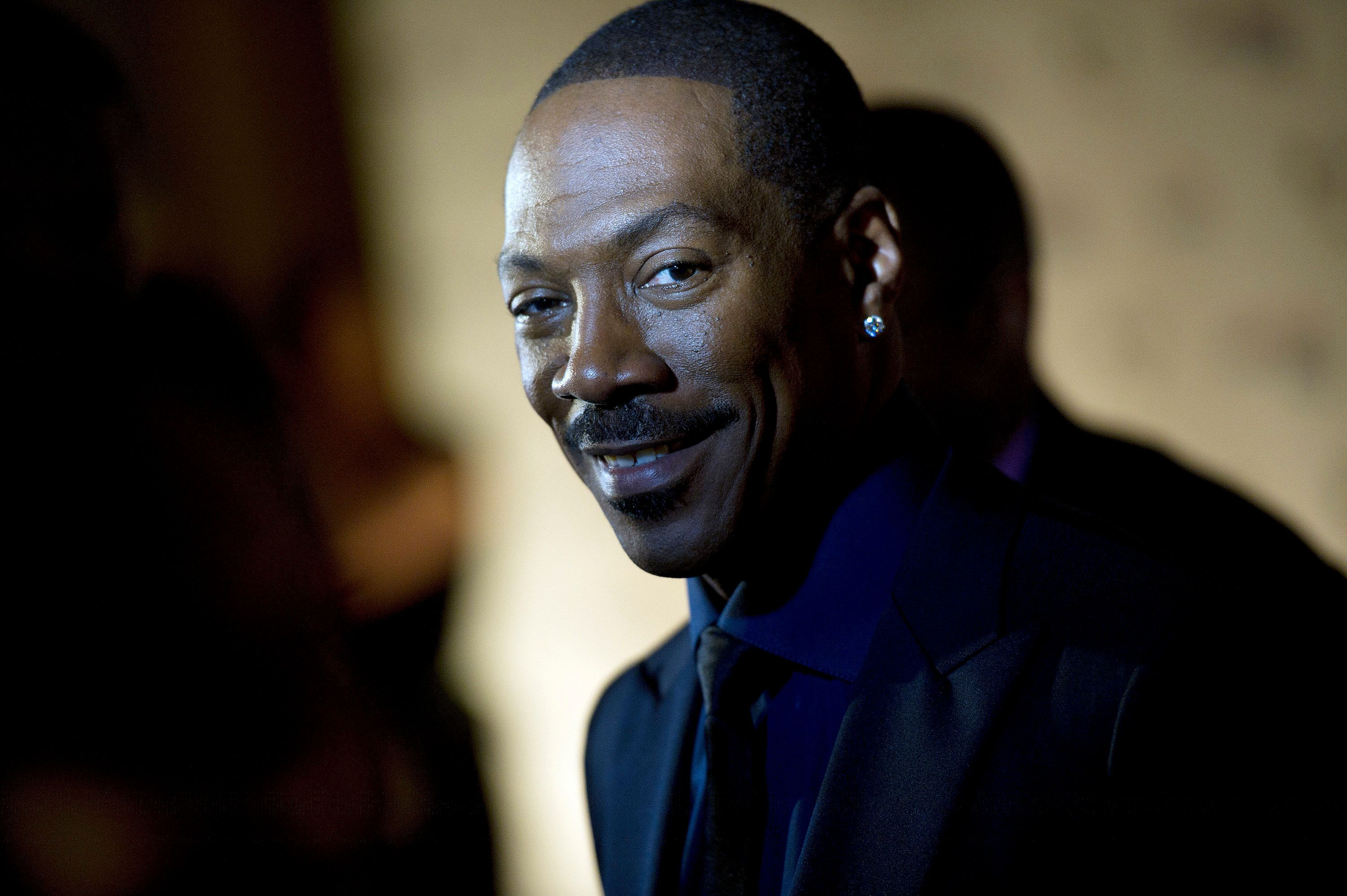 WASHINGTON, DC - OCTOBER 18: Eddie Murphy arrives at the Kennedy Center for the Mark Twain Prize for American Humor ceremony that honored Eddie Murphy on Sunday October 18, 2015 in Washington, DC. (Photo by Matt McClain/ The Washington Post via Getty Images)
