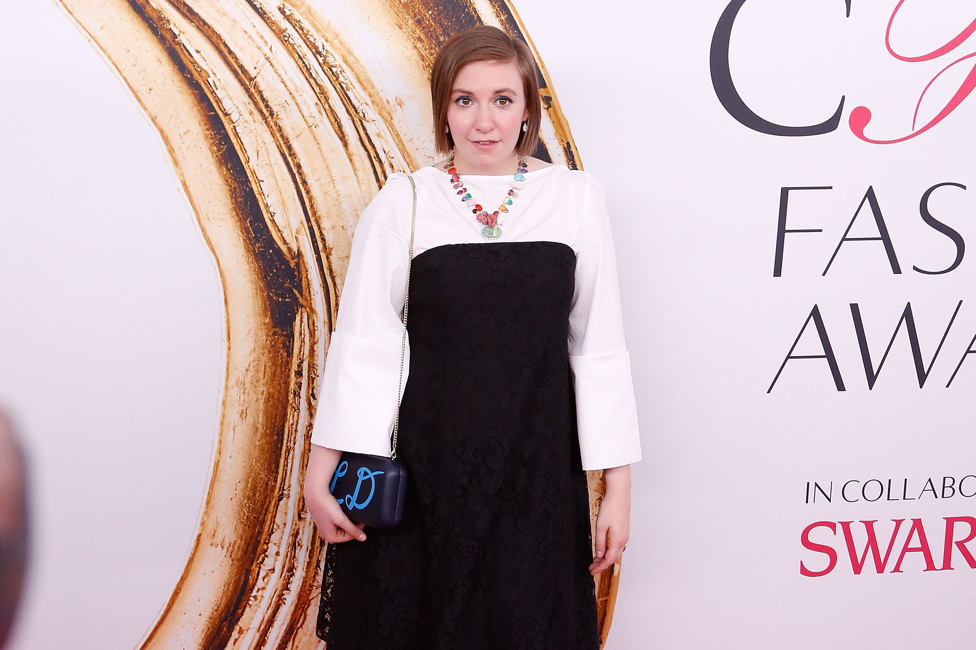 Lena Dunham attends the 2016 CFDA Fashion Awards at the Hammerstein Ballroom on June 6, 2016 in New York