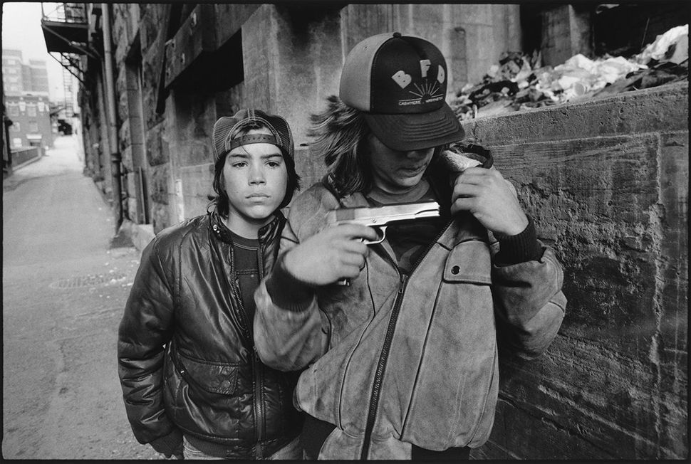 Rat and Mike with a gun, 1983