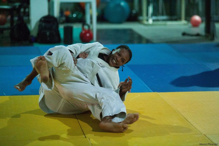Yolande Mabika attends daily judo classes and trains with renowned Brazilian judoko Geraldo Bernardes.