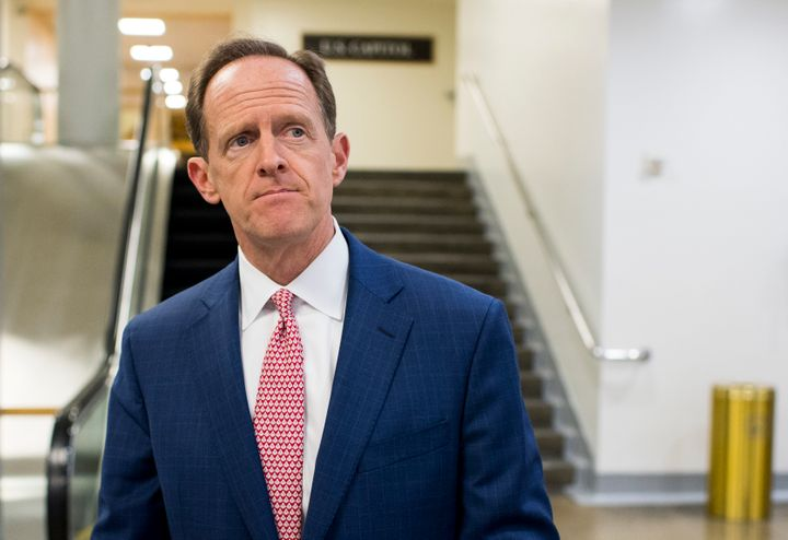 "Sen. Pat Toomey (R-Pa.) says Trump's attacks on a judge's Mexican heritage are ""outrageous"" and ""absolutely ridiculous."""