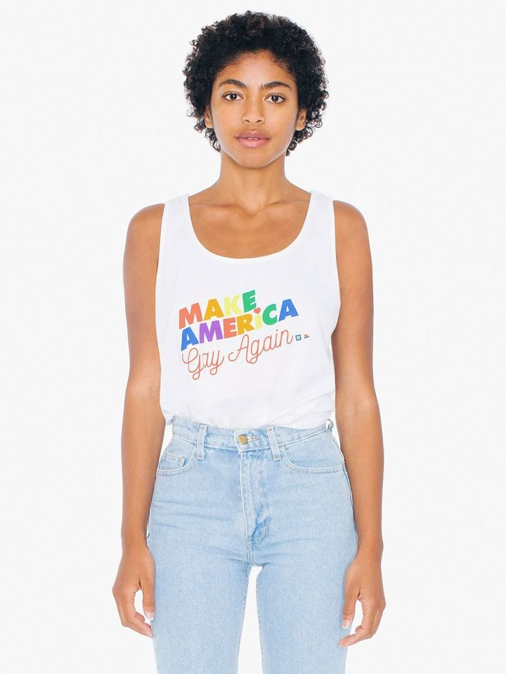 American Apparel's new Pride line was produced in partnership with the Human Rights Campaign and the Ally Coalition.
