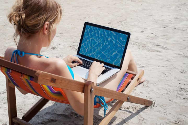 Doing work at the beach doesn't count.