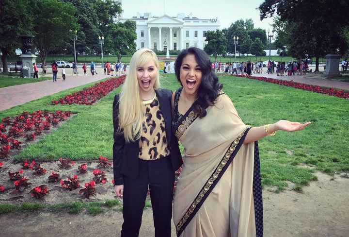 """Dream, Girl"" director Erin Bagwell and producer Komal Minhas at The White House for a screening of their film."