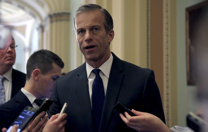 Sen. John Thune (R-S.D.) is hoping to God that Trump stops saying awful things that could hurt GOP senators' reelection