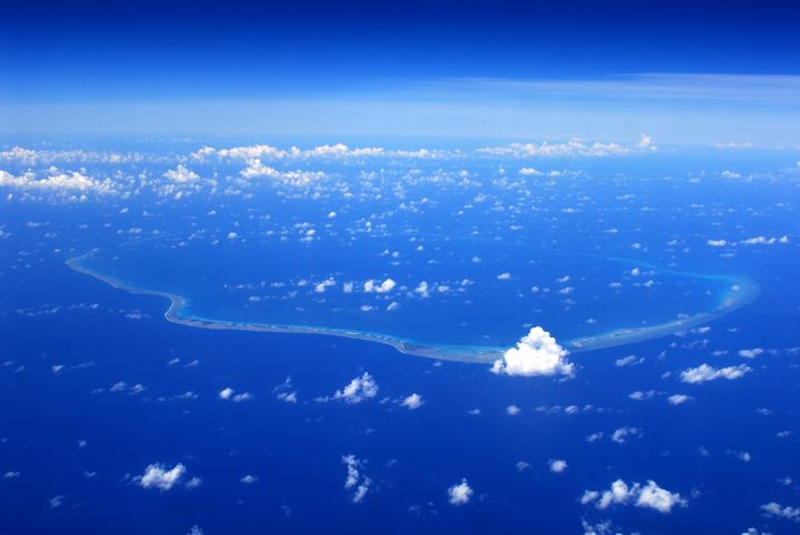 Enewetak Atoll pictured from above.