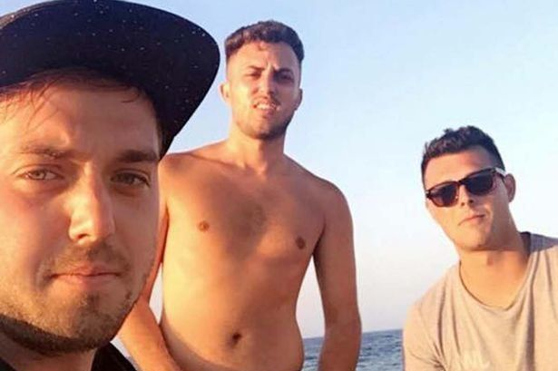 (From left to right) James Wallman, 23, Alex McCormick, 19, and Lewis Ellis,