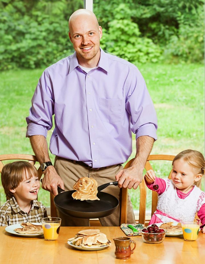 Nathan Shields and his children.
