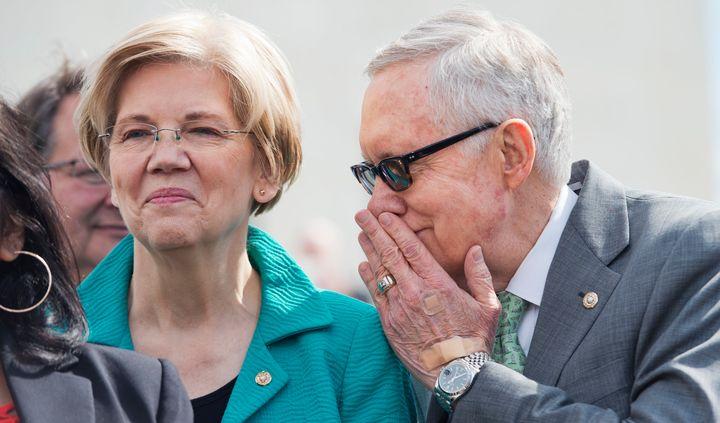 Sen. Elizabeth Warren, (D-Mass.) andSenate Minority Leader Harry Reid (D-Nev.) have history.As majority leader, h
