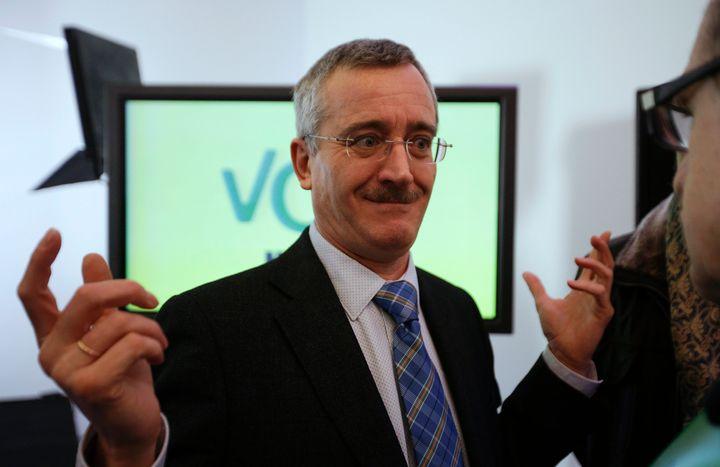 Jose Antonio Ortega Lara before the presentation of his new political party VOX in Madrid Jan. 16, 2014.