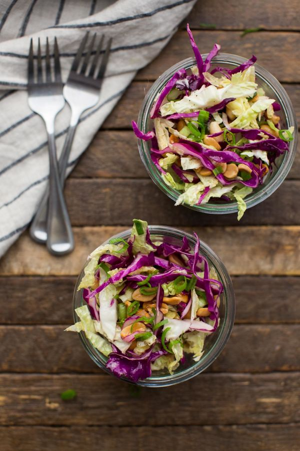 "<strong>Get the <a href=""http://naturallyella.com/cabbage-salad-with-peanuts/"" target=""_blank"">Cabbage Salad with Peanuts rec"