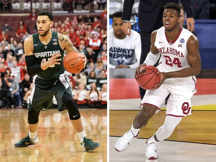 """Michigan State's Denzel Valentine (left) and Oklahoma's Buddy Hield, both seniors, are about as """"safe"""" as it gets when projec"""