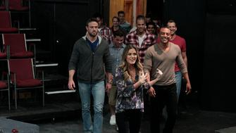 "THE BACHELORETTE - ""Episode 1203"" - Still in shock after Chad stays as part of the group of 17 remaining men despite his aggressive behavior, the men feel the pressure as the competition heats up. Chase and JoJo go to a hot yoga class during the day, which ends with a surprise performance by country star Charles Kelly. A group of unsuspecting bachelors are about to come clean about their sexual experiences - in public! Meanwhile, Chad has reverted back to his hot-head ways, almost leading to fisticuffs. James Taylor is treated to a good old-fashioned swing-dance date, topped off by a trip to lover's lane. An impromptu pool party replaces the cocktail party, and the drama begins as one man calls Chad out for his bullying behavior, and Chris Harrison takes matters into his own hands.  Will this be the end of the road for Chad? Find out on the special two-night event on ""The Bachelorette,"" beginning MONDAY, JUNE 6 (8:00-10:01 p.m. EDT), on the ABC Television Network. (ABC/Rick Rowell)
