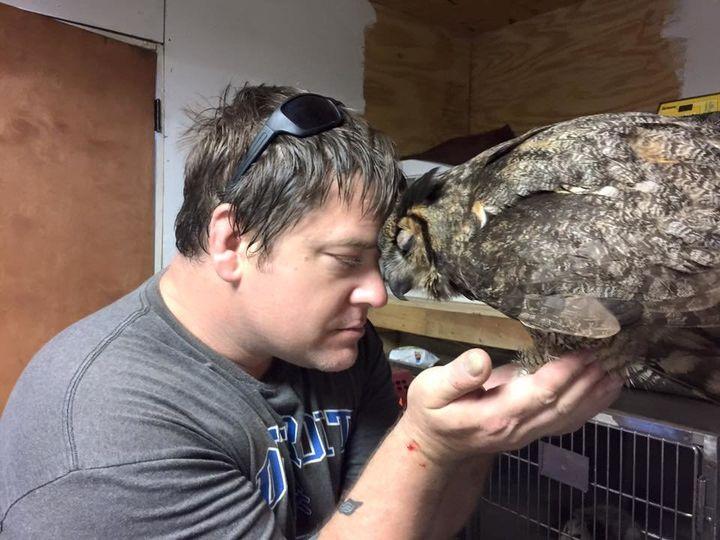 Doug Pojesky and Gigi. (Property of Wild At Heart Rescue)