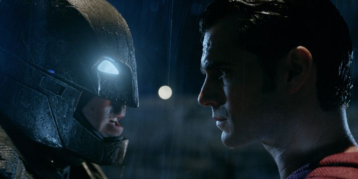 "Ben Affleck and Henry Cavill star in ""Batman v Superman: Dawn of Justice."""