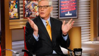 MEET THE PRESS -- Pictured: (l-r)  Hugh Hewitt, Host, The Hugh Hewitt Show appears on 'Meet the Press' in Washington, D.C., Sunday March 13, 2016.  (Photo by: William B. Plowman/NBC/NBC NewsWire via Getty Images)