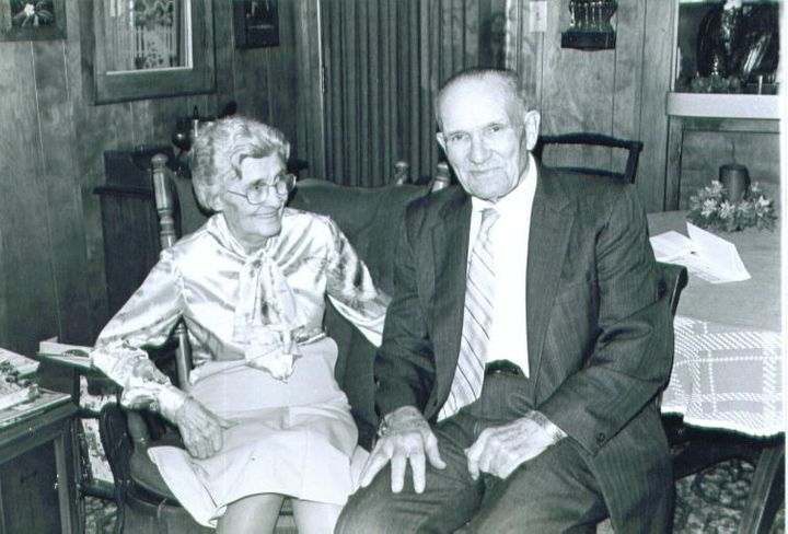 Grandma Elsie with Grand-Daddy