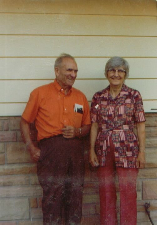 Grand-Daddy and Grandma Elsie sometime in the 1970s